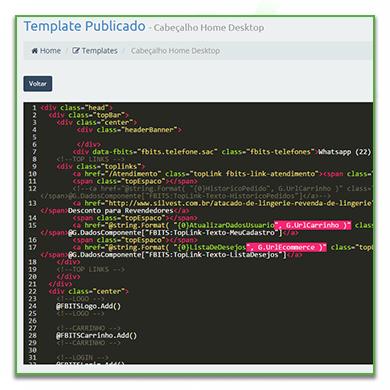 Customização de html, css, javascript, mediante treinamento